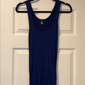 Victoria's Secret Navy Blue Fitted Maxi Dress